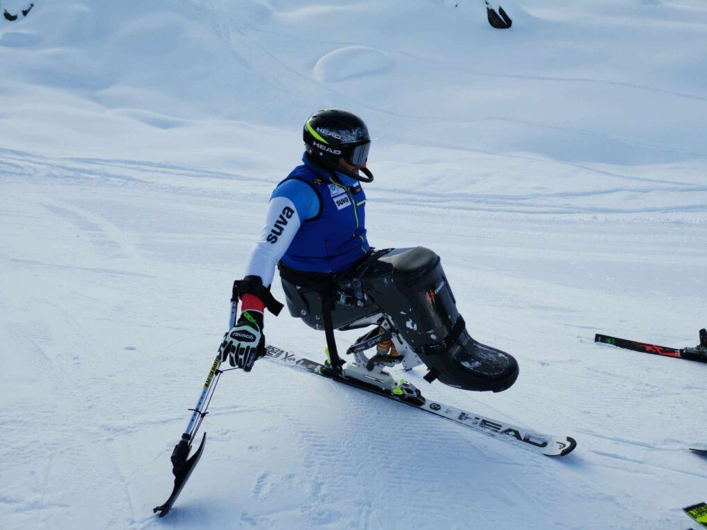 Athlet Paralpine Skiing